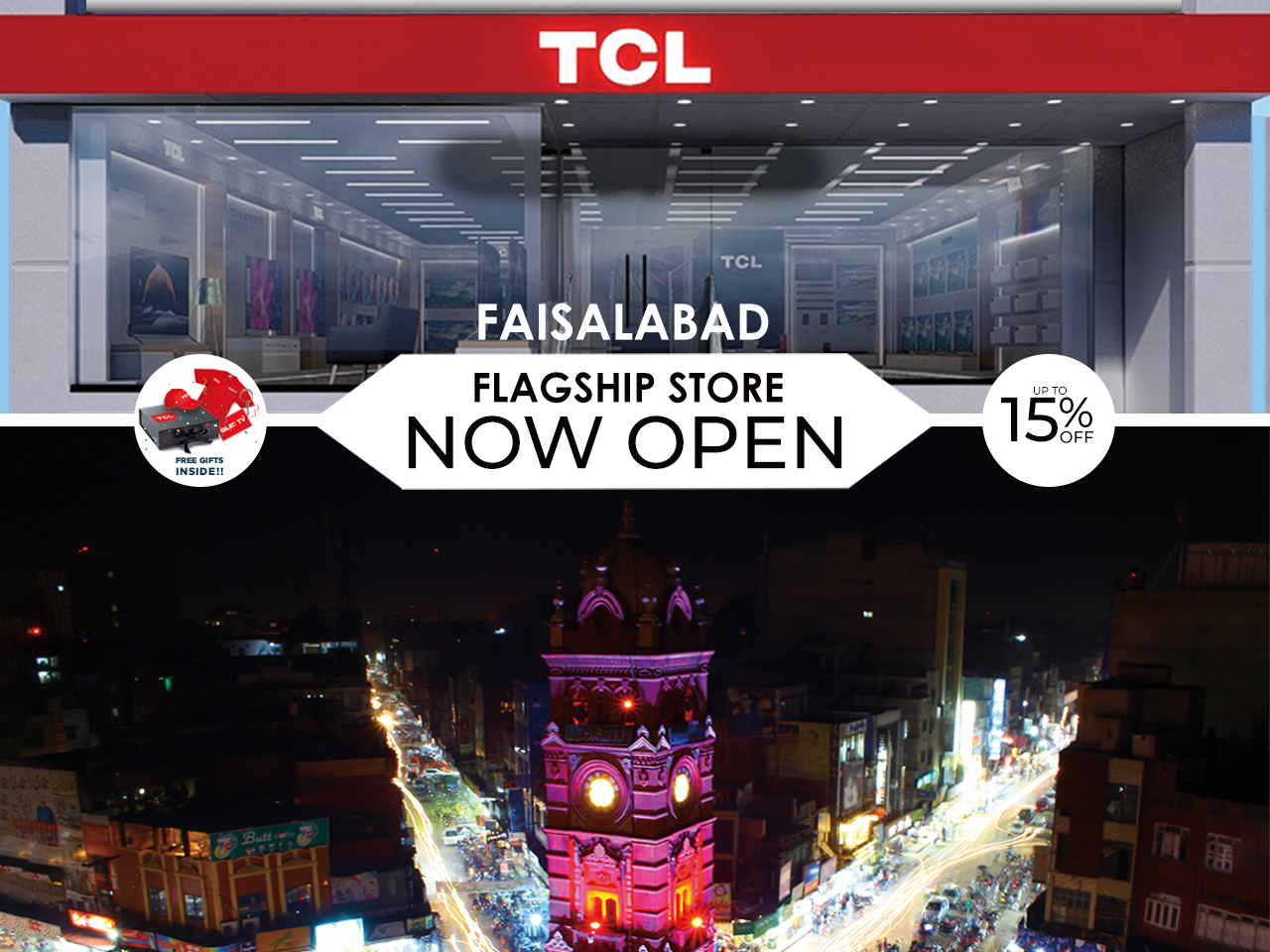 TCL opens its First Flagship Store in Faisalabad