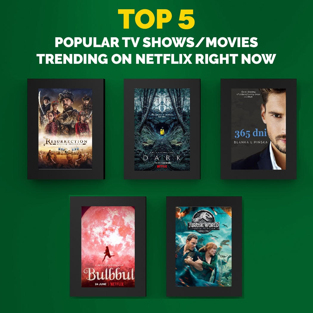 The Top 5 Popular TV Shows/Movies Trending on Netflix Right Now