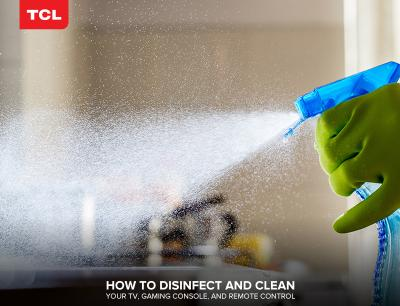 How to Disinfect and Clean your TV, Gaming Console, and Remote Control