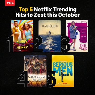 Netflix Top 5 with TCL this October