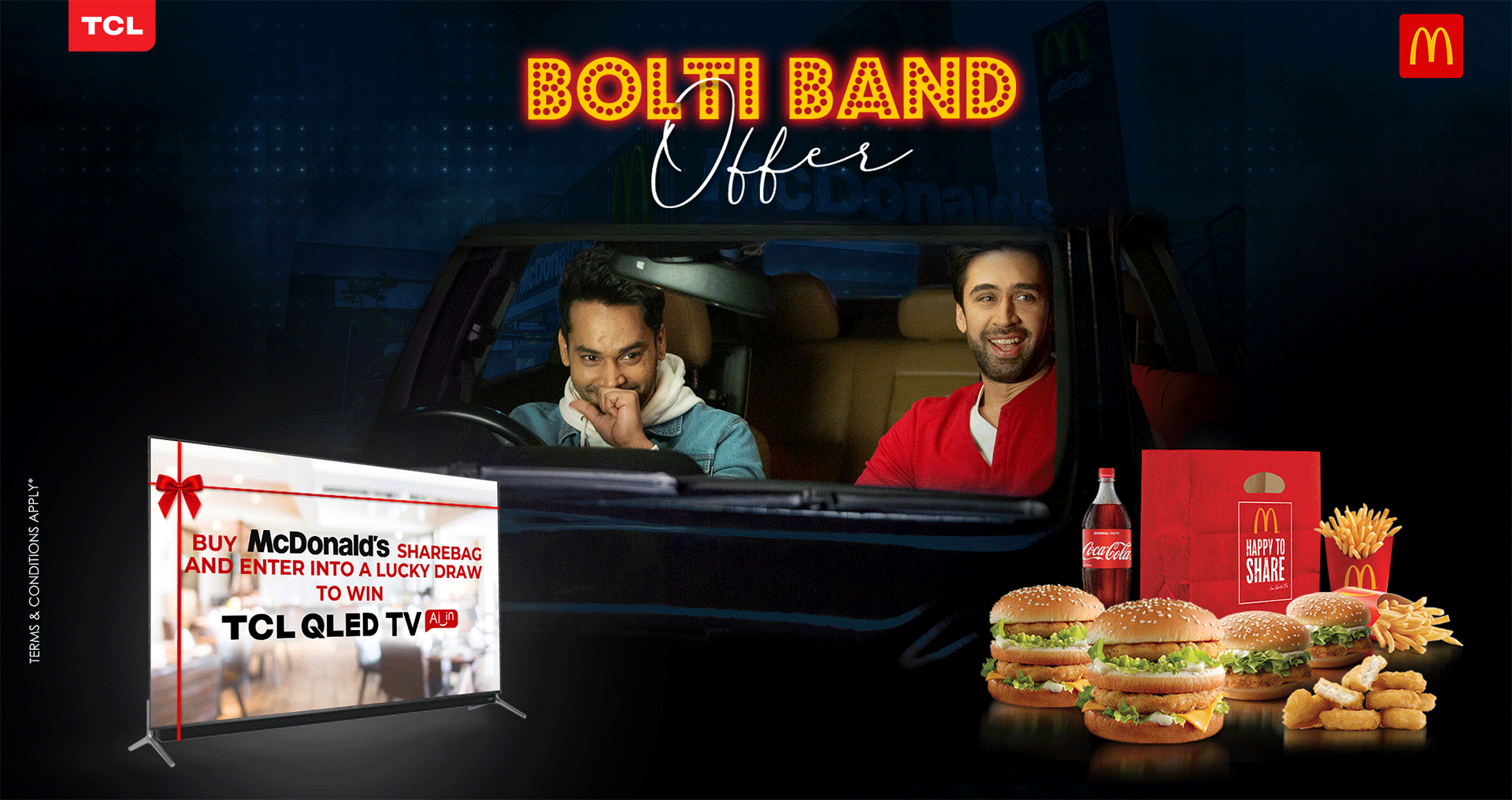 TCL and McDonald's join hands for 'Bolti Band Offer' allowing people to win QLED TVs