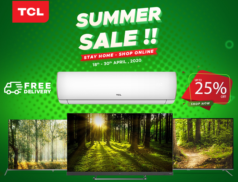 TCL Launches Online Summer Sale and Countrywide Delivery in Pakistan