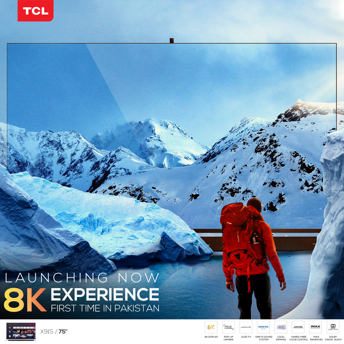 TCL launches Pakistan's first Certified 8K UHD QLED TV with IMAX Enhanced Certification, Cinematic Soundbar and Pop-up camera